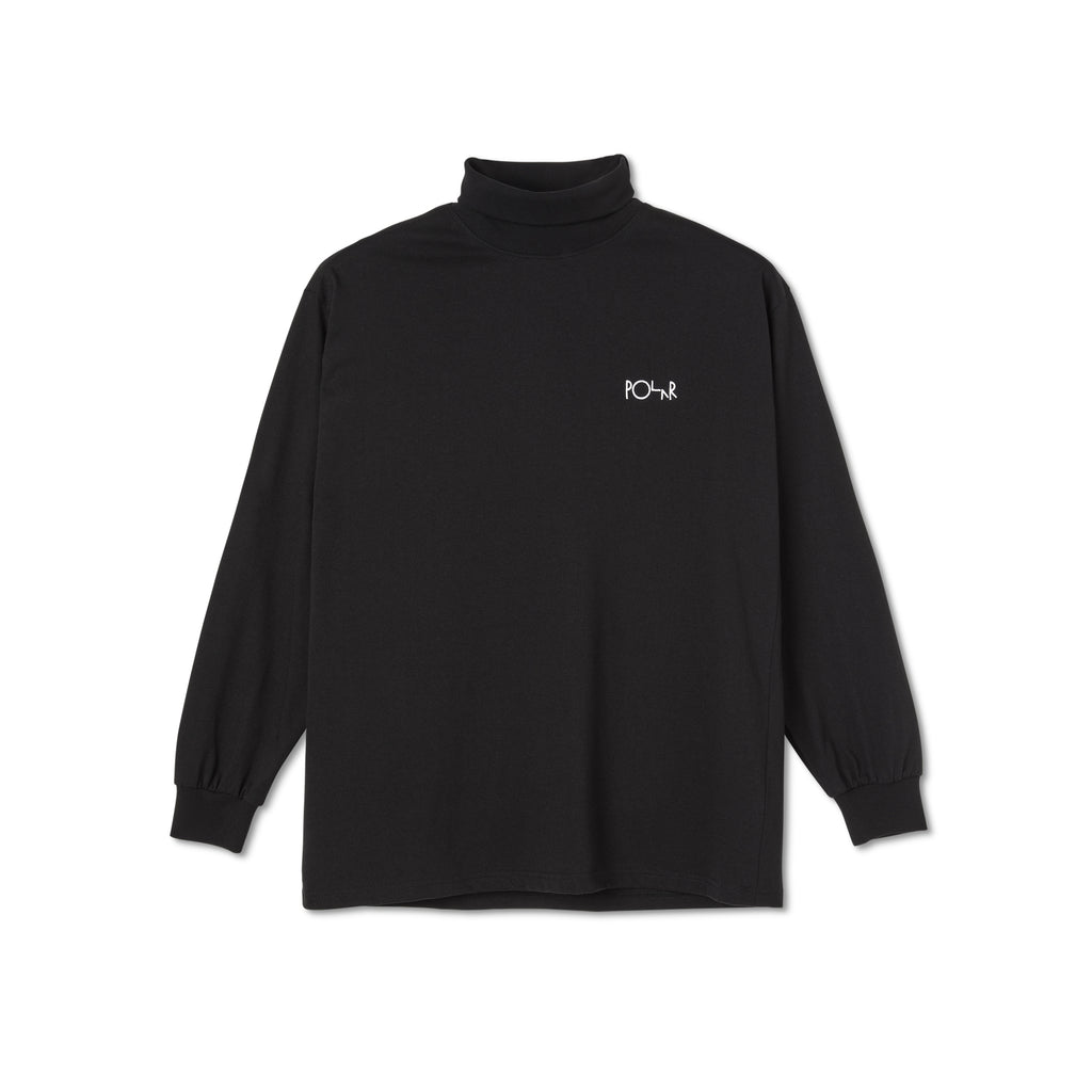 Polar - Script Turtleneck Black