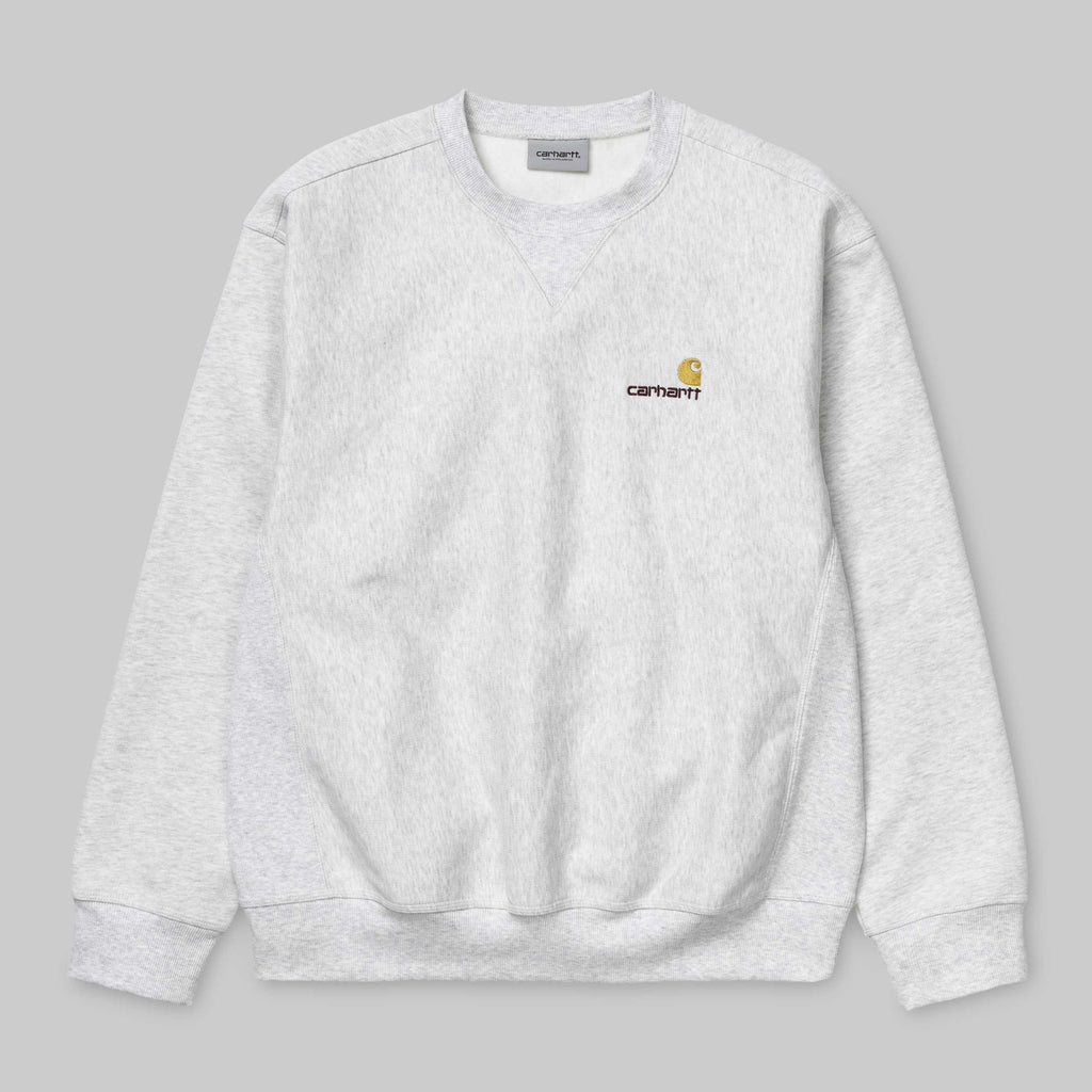 Carhartt American Script Sweat Ash Heather, Crewnecks & Hoodies, Carhartt WIP, My Favorite Things
