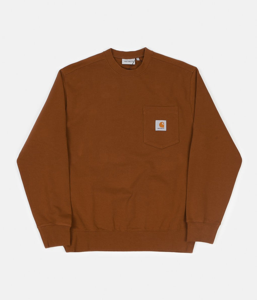 Carhartt - Pocket Sweat Brandy, Crewnecks & Hoodies, Carhartt WIP, My Favorite Things