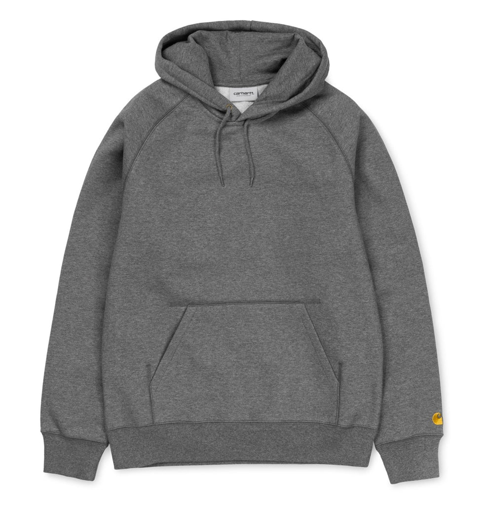 Carhartt Hooded Chase Sweat Dark Grey Heather - My Favorite Things