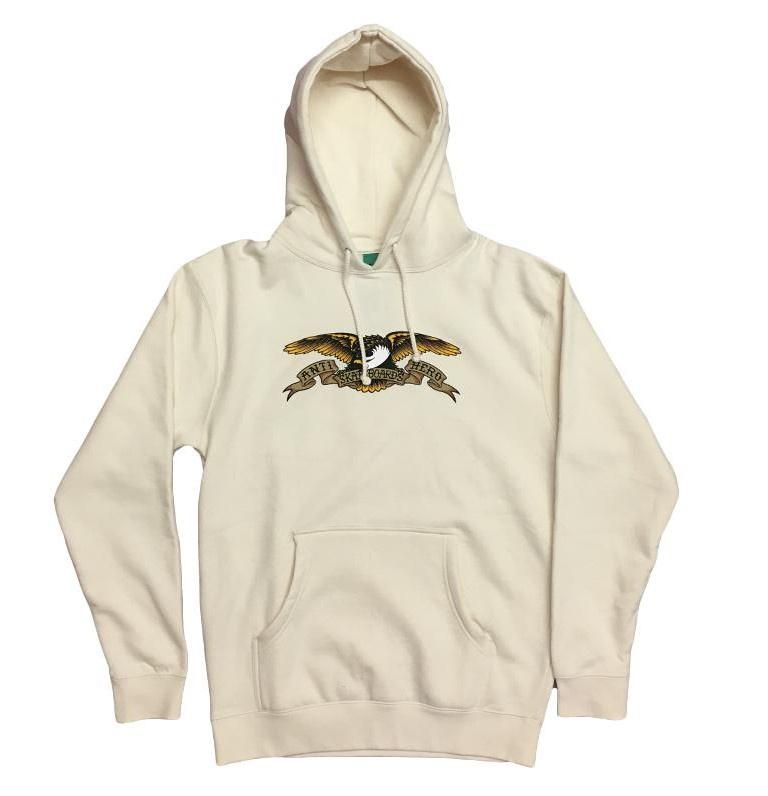 Antihero Eagle Pullover Hooded Sweatshirt Bone, Crewnecks & Hoodies, Antihero Skateboards, My Favorite Things