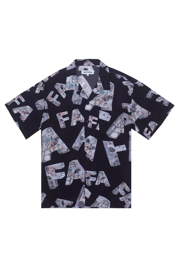 FA - Paper Mache Club Shirt Black