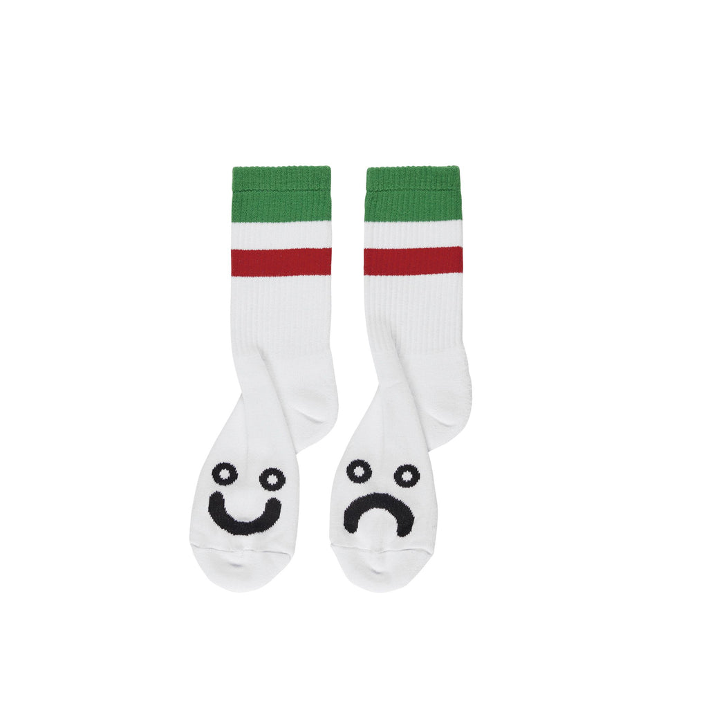 Polar - Happy Sad Socks Stripes Green, Socks, Polar Skate Co., My Favorite Things