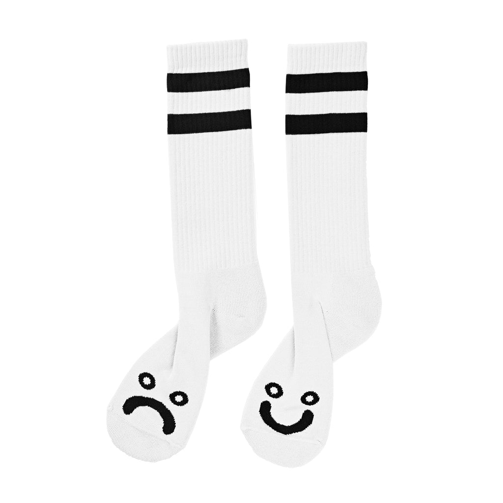 Polar Happy Sad Classic Sock White, Socks, Polar Skate Co., My Favorite Things