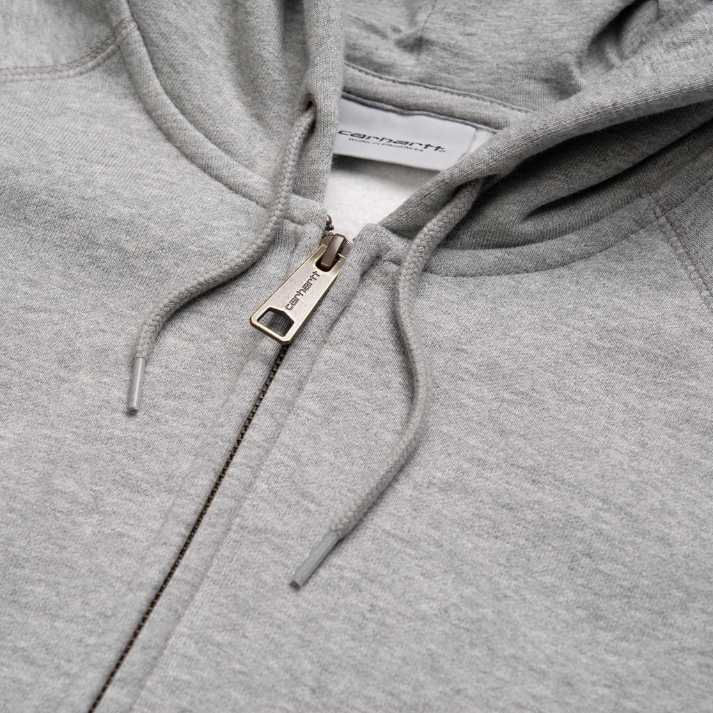 Carhartt Hooded Chase Jacket Grey Heather/Gold, Crewnecks & Hoodies, Carhartt WIP, My Favorite Things