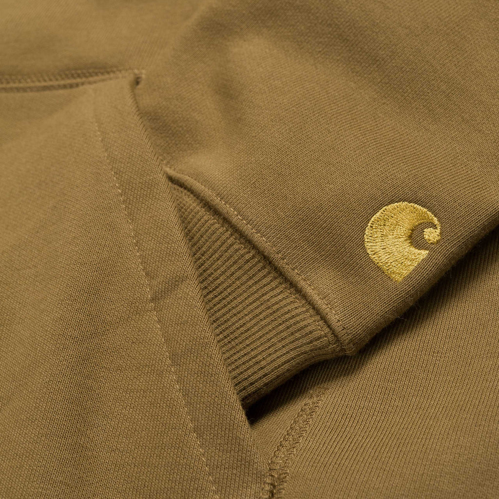 Carhartt Hooded Chase Sweat Hamilton Brown / Gold, Crewnecks & Hoodies, Carhartt WIP, My Favorite Things