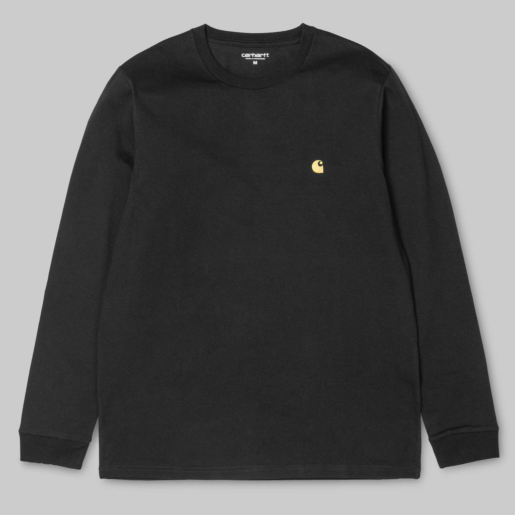 Carhartt L/S Chase T-Shirt Black/Gold, T-Shirts, Carhartt WIP, My Favorite Things