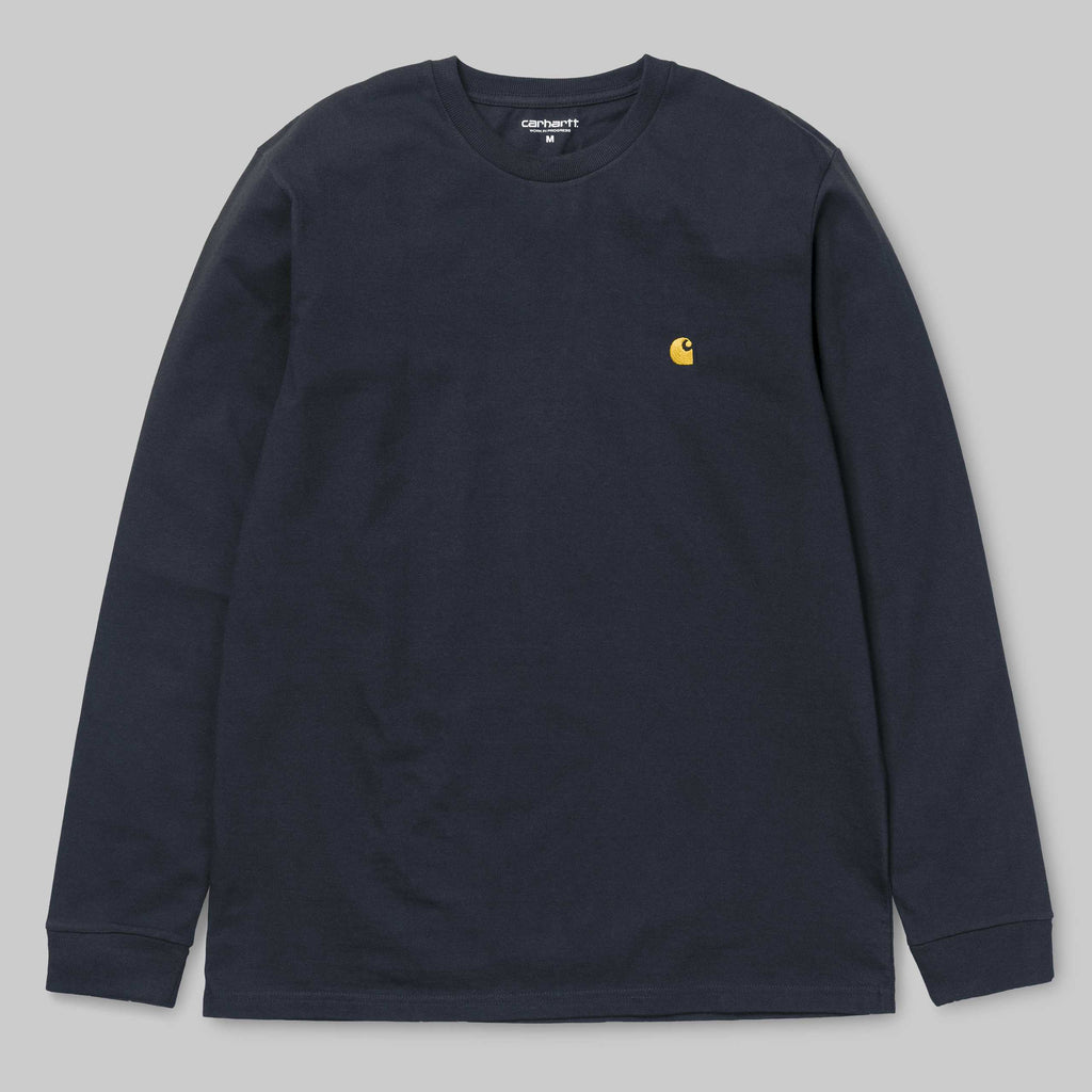 Carhartt L/S Chase T-Shirt Dark Navy / Gold, T-Shirts, Carhartt WIP, My Favorite Things
