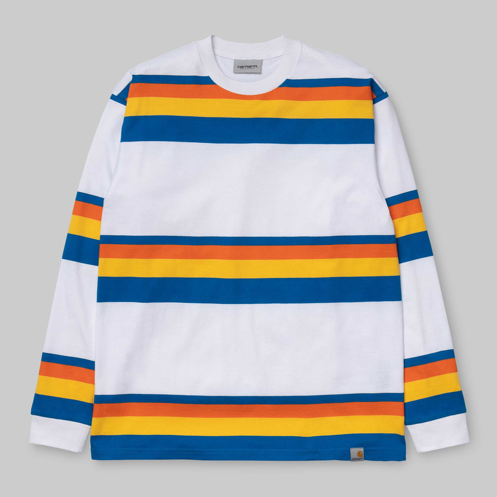 Carhartt L/S Huntigton T-Shirt White, T-Shirts, Carhartt WIP, My Favorite Things