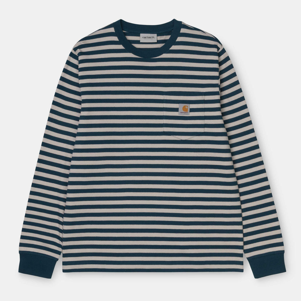 Carhartt - L/S Parker Pocket T-Shirt Parker Stripe, T-Shirts, Carhartt WIP, My Favorite Things