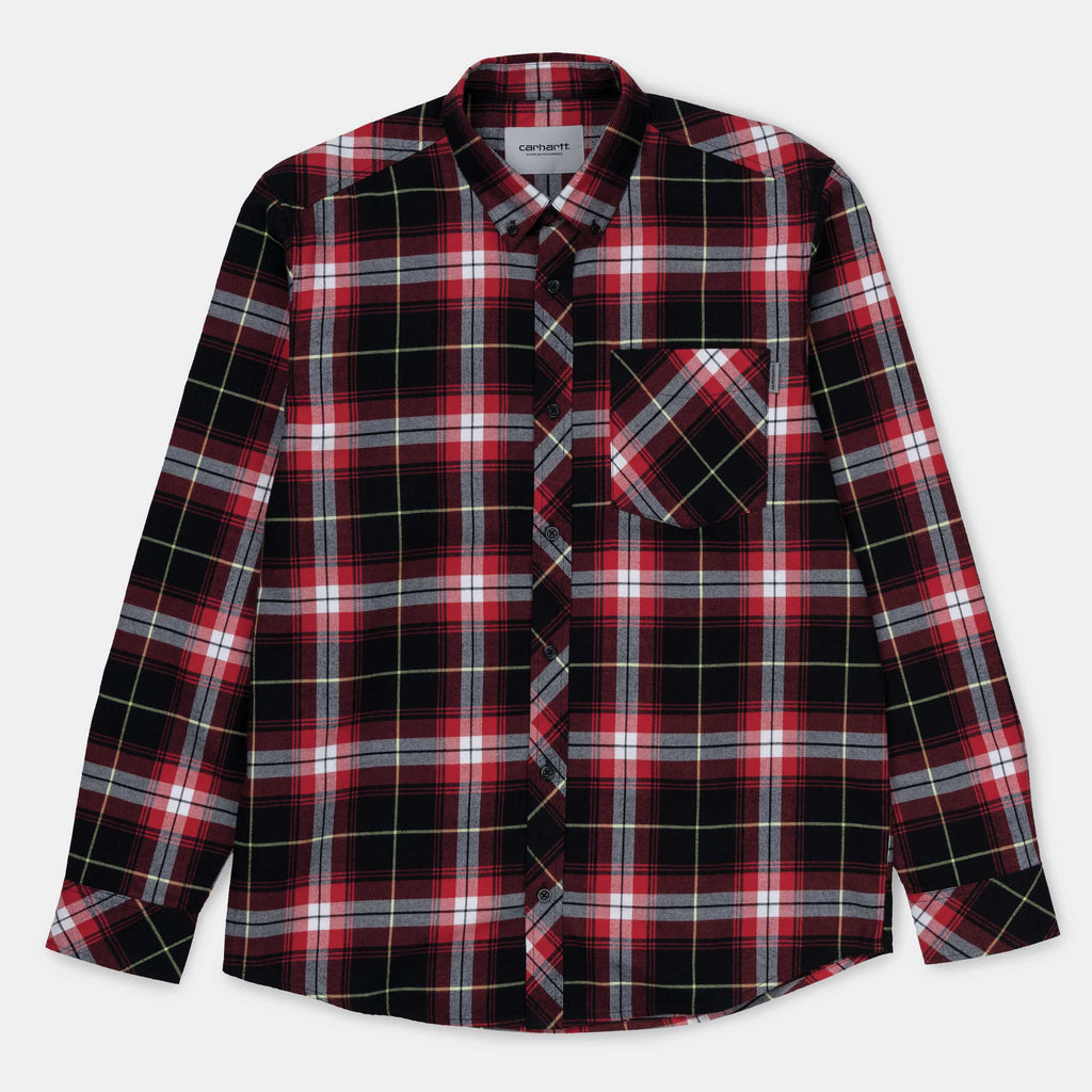 Carhartt Phil L/S Shirt Etna Red, Shirts & Flannels, Carhartt WIP, My Favorite Things