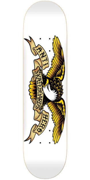 "Antihero Classic Eagle 8.75"" (White), Decks, Antihero Skateboards, My Favorite Things"