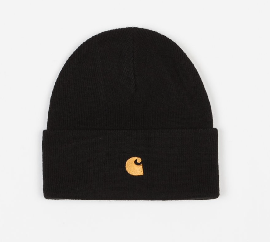 Carhartt Chase Beanie Black, Beanies, Carhartt WIP, My Favorite Things