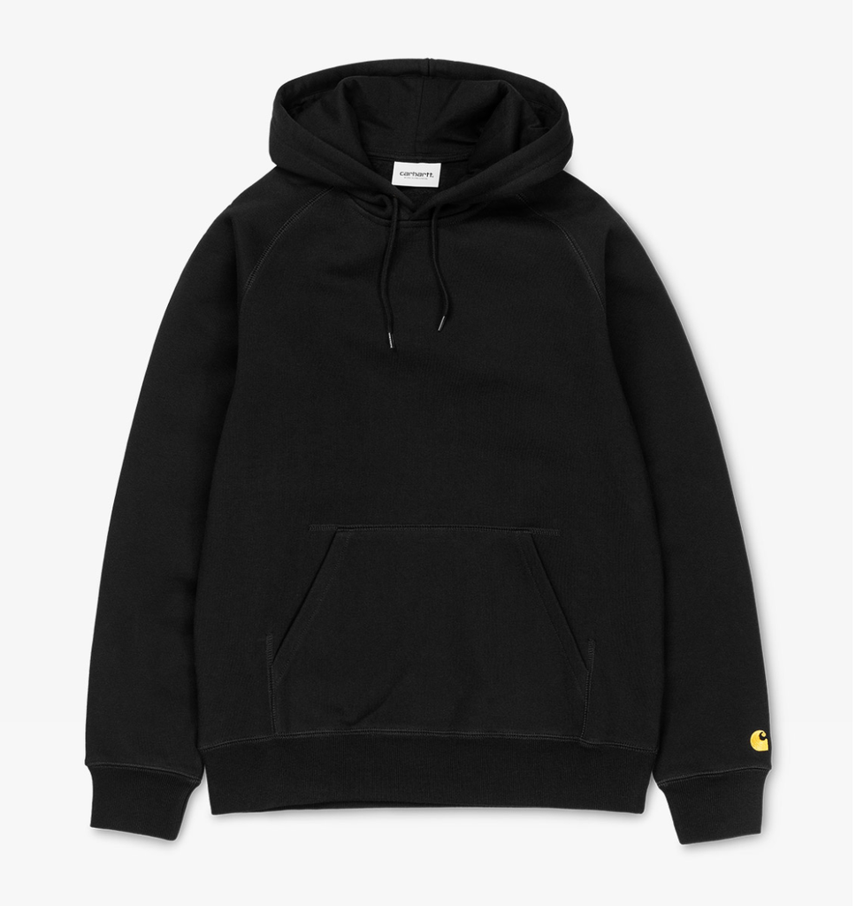 Carhartt Hooded Chase Sweatshirt Black, Crewnecks & Hoodies, Carhartt WIP, My Favorite Things