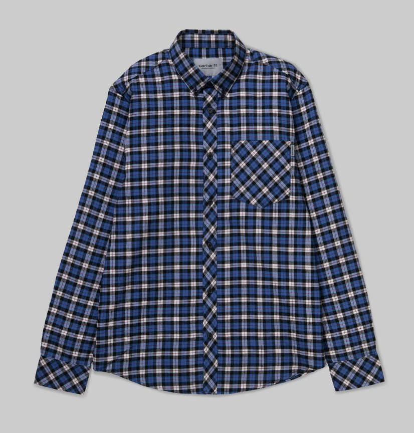 Carhartt L/S Lanark Shirt Check/Regatta, Shirts & Flannels, Carhartt WIP, My Favorite Things