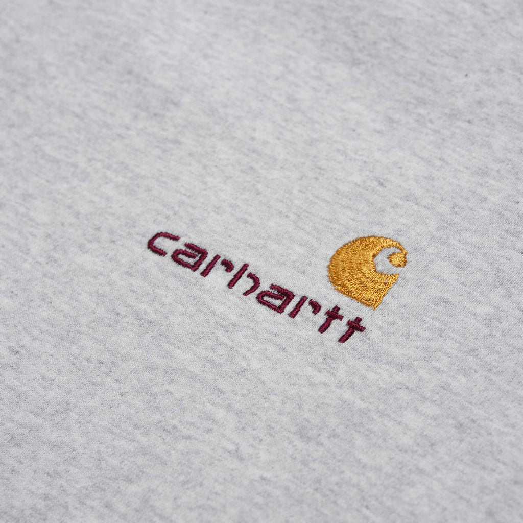 Carhartt S/S American Script T Shirt Ash Heather, T-Shirts, Carhartt WIP, My Favorite Things