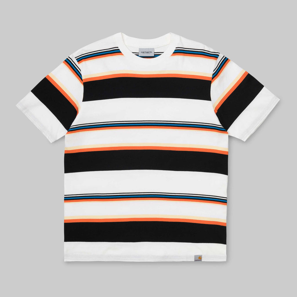 Carhartt S/S Sunder T-Shirt Sunder Stripe, T-Shirts, Carhartt WIP, My Favorite Things