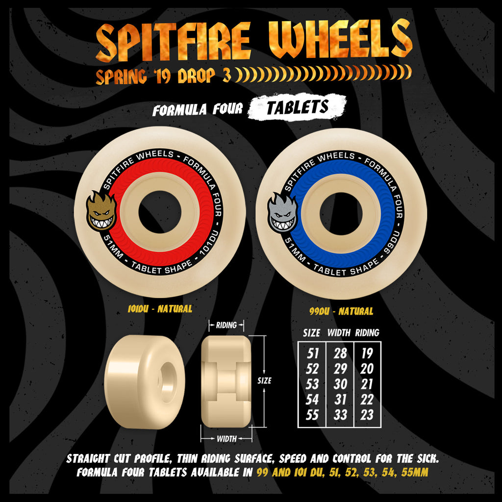 Spitfire Formula 4 101D Tablet 52mm, Wheels, Spitfire Wheels, My Favorite Things