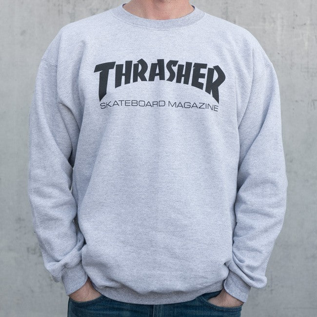 Thrasher Skate Mag Crew Grey, Crewnecks & Hoodies, Thrasher, My Favorite Things