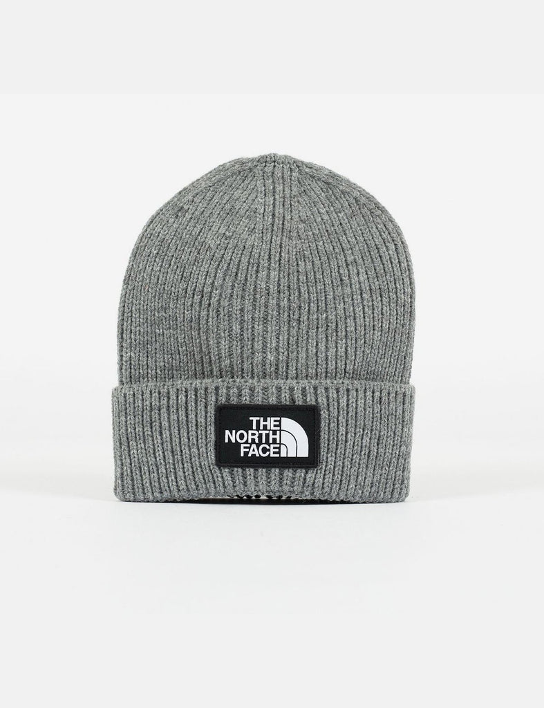 The North Face TNF Logo Box Cuff Beanie Grey, Beanies, The North Face, My Favorite Things