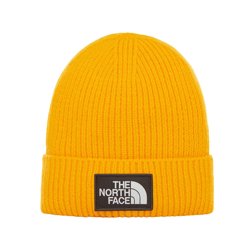The North Face TNF Logo Box Cuff Beanie Yellow, Beanies, The North Face, My Favorite Things