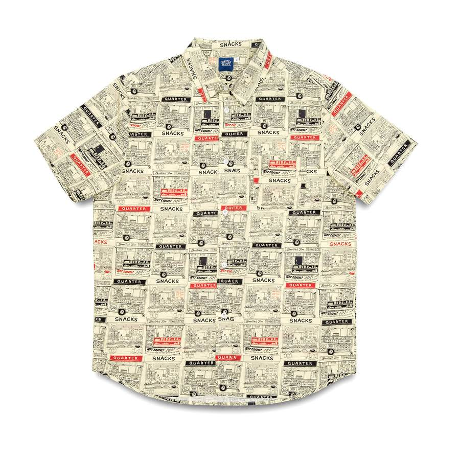 Quartersnacks - Vendor SS Button Up Butter, Shirts & Flannels, Quartersnacks, My Favorite Things