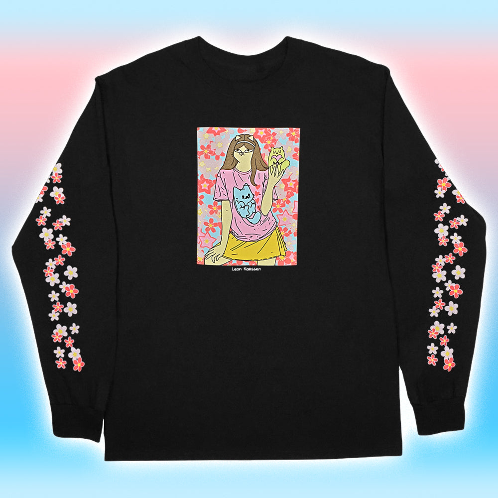 Leon Karssen Blossom Longsleeve Black, T-Shirts, Leon Karssen, My Favorite Things