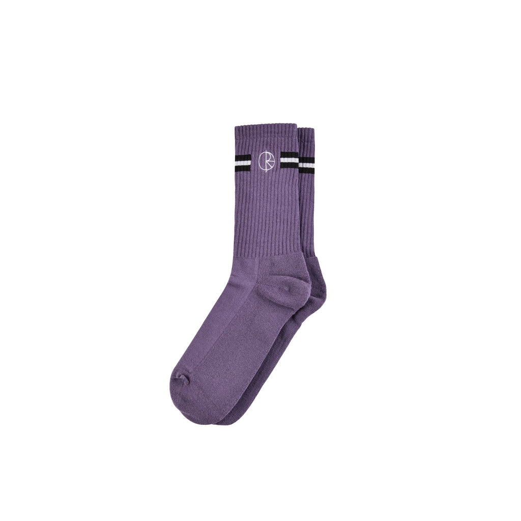 Polar Stroke Logo Socks Purple, Socks, Polar Skate Co., My Favorite Things