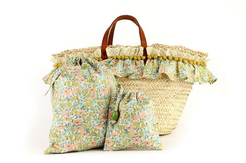 Basket with Liberty Poppy & Daisy