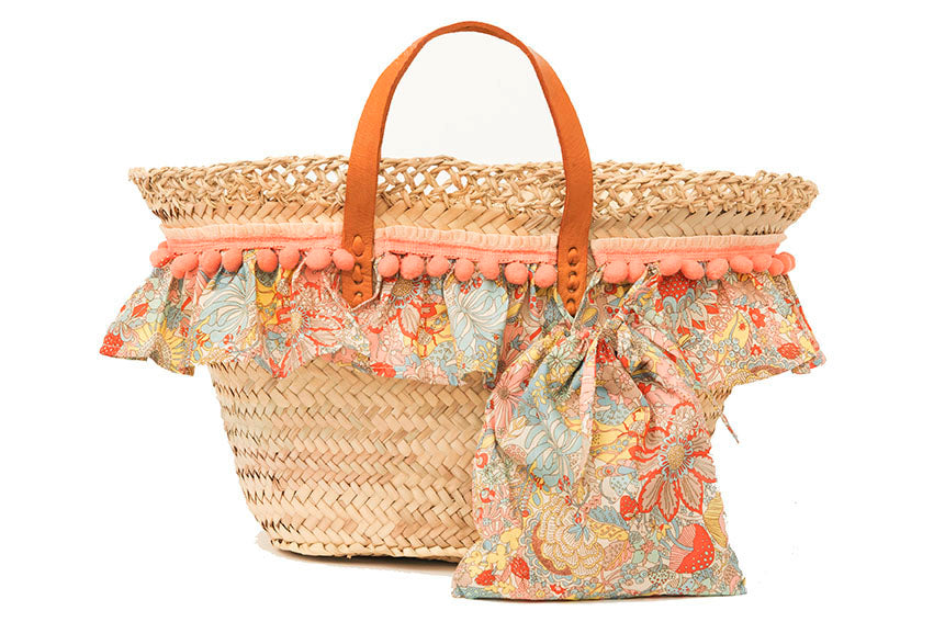 Basket with Liberty Elodie B (handbag)