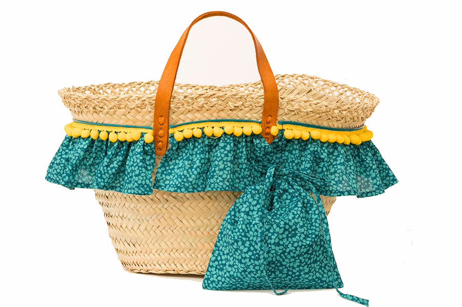 Basket with Liberty Glenjade (handbag)