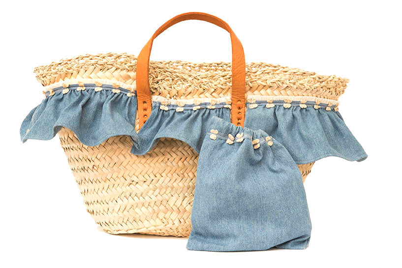 Basket with jeans (handbag)