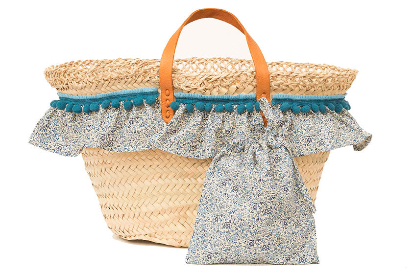 Basket with Liberty Katie & Millie (handbag)