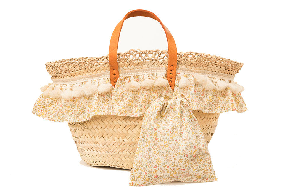 Basket with Liberty Meadow Sweet (handbag)