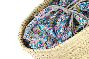 Basket with Liberty Interior drawstring Claire-Aude