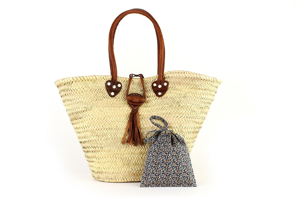 Basket with Liberty Interior drawstring Pepper