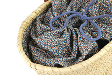 Load image into Gallery viewer, Basket with Liberty Interior drawstring Pepper
