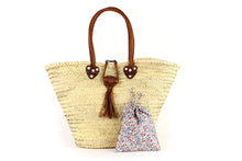 Load image into Gallery viewer, Basket with Liberty Interior drawstring Phoebe