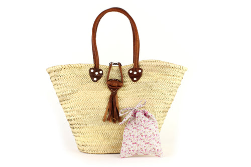 Basket with Liberty Interior drawstring Eloise