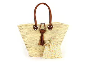Basket with Liberty Interior drawstring Claire Aude