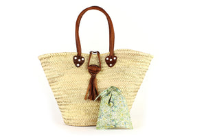 Basket with Liberty Interior drawstring Lodden