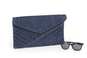 Clutch bag in denim