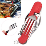 3 in 1 Folding Stainless Steel Spoon Fork Knife Tableware Multi Tool for Camping