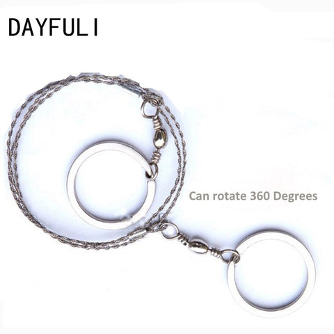 Outdoor Camping Hiking Manual Hand Steel Rope Chain Saw Portable Practical Emergency Survival Gear Steel Wire Kits Travel Tools