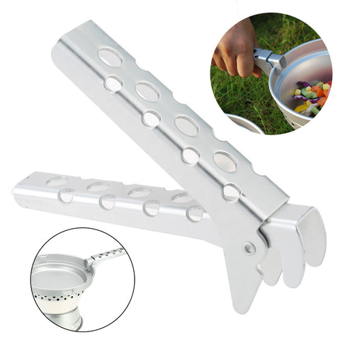 Anti-hot Camping Pot Pan Gripper Holder Pot Pan Lifter Holder Bowl Gripper Handle Clip for Outdoor Camping Cookware Travel Tools