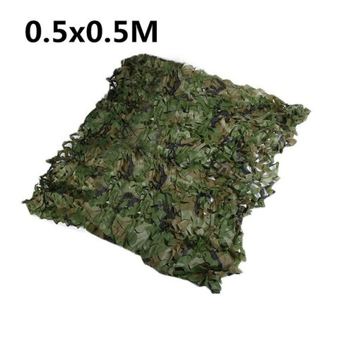 0.5*1m/0.5*0.5m Car Covering Tent Camouflage Net Army Military Camo Net Outdoor Hunting Blinds Netting Cover Protect Nets Cover