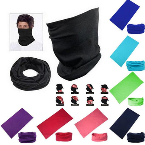 New Comfortable Multiuse Unisex Outdoor Scarf Tube Magic Sport Cycling Bicycle Bandanas Snood Headwear Windproof Solid Polyester