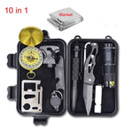 Emergency Survival Gear multi tool Survive First Aid Kit Outdoor Camping equipment Survival Whistle Flashlight Tactical pen