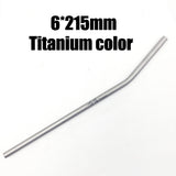 TiTo titanium straws with 1 cleaner brush titanium bend straw kitchen Outdoor camping drinking gift straws