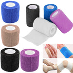 Security Protection First Aid Survival Elastic Bandage Waterproof Self-Adhesive Gauze Tape Cohesive 10cm*5m  7.5cm*5m  2.5cm*5m